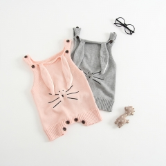 Baby/Toddler's rabbit knitting overalls