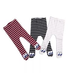 cute eyes & stripe leggings for baby girl and boy