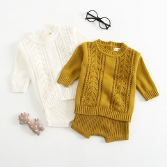 2-piece knit sweater and pants for baby
