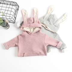 stylish rabbit long-sleeve hooded jumpsuit for baby