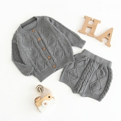 Cable-Knit Cardigan and pant set for baby