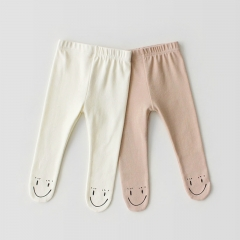 soft and comfy solid leggings for baby girl