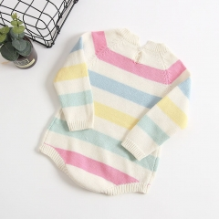 rainbow baby knitted romper in spring,autumn and winter