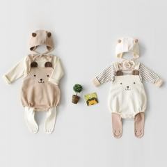 2-piece lovely bear sleeveless romper for baby 0-2 years