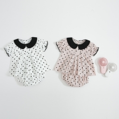 dot print sets for 0-2 years baby girl in summer