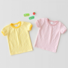 wholesale strip short-sleeve T-shirt for baby in summer