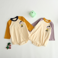 cartoon snoopy boy design long-sleeve one-piece for baby in fall