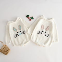 ins best seller rabbit pattern knitting sweater for 0-2 years old baby