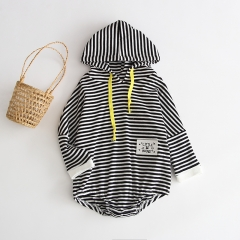 2019 autumn new arrival black & white shapes hoodie for 0-2 years baby