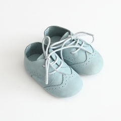 new arrival brogue style soft sole genuine leather shoes for baby 0-2 years