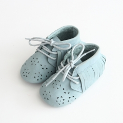 new style genuine leather hollow-out design baby shoes