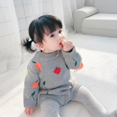 wholesale 0-2 years baby boutique double jacquard cotton clothing