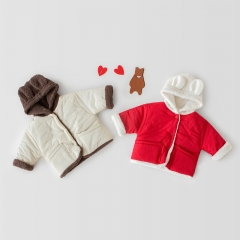 infant baby winter double-side wearing warmful coat wholesale