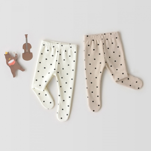 Angoubebe factory direct wholesale 2020 new arrival baby leggings with dot print design