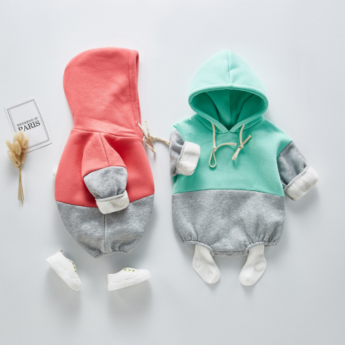 infant baby 100% cotton hoodies romper for Spring Autumn Winter wholesale