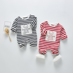 2020 Newest Faddish Onesie Baby Black And White Strip Baby Girls Romper Wholesale