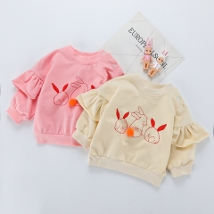 little girl t-shirt with ruffles on sleeves clothing manufacturers wholesale