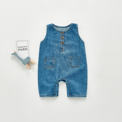 new arrival sleeveless softness long romper for baby girl & boy autumn wearing wholesale
