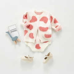 Newborn Baby knit clothing sets autumn Spring Autumn Winter wholesale baby set clothes long sleeve 2pcs candy color baby girl sweater set  Wholesale