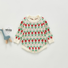 Hot Sale 2020 Infant Baby Girls Kids Knitted Winter Autumn Warm Outerwear Girls Sweaters Wholesale