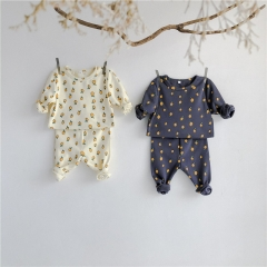 Soft cotton child cute factory drop shipping comfortable baby loungewear wholesale