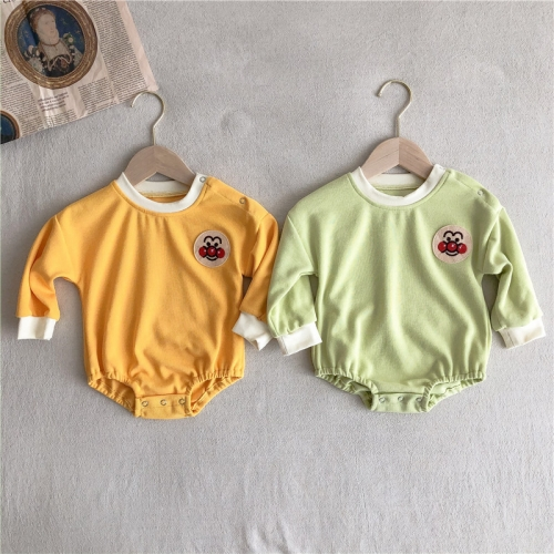 Factory Price Wholesale Newborn Infant Baby Girl Long Sleeve Romper with long pants sets