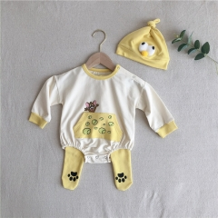 Newborn baby clothes animal romper +pants+hat 3 pcs child clothes sets wholesale