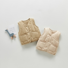 Children Boutique Cotton Autumn Winter Lovely Kid Warm Vest Wholesale