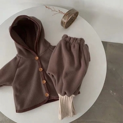 2020 winter baby warm outwearing coat plus big PP pants two-piece baby casual outing clothes wholesale