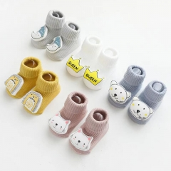 Infant baby socks boneless loose mouth baby tube socks cartoon doll dispensing non-slip baby toddler socks wholesale