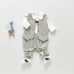 2021 New Fashion 100% Cotton Baby Clothes Sets Two-piece Baby Boy Clothes Romper Wholesale