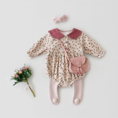 Baby Autumn And Spring New Romper Little Flower Print Wholesale