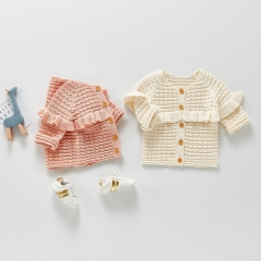 Fashion Spring Girls Cardigan Bow Autumn Brand Kids Sweaters Girls Fashion Print Knit Cardigan Baby Child Cotton Outwear Clothes Wholesale