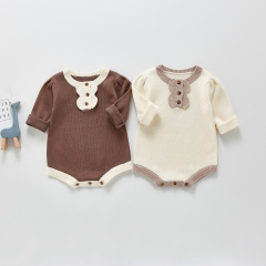 Baby Clothes Spring Autumn Baby Jumpsuit Knitting Sweater Garment Bodysuits Baby Girl Clothes Jumpsuit Wholesale