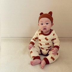 2021 new arrival baby girl boy cartoon home sets in spring autumn winter wearing wholesale