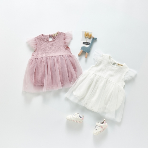 High quality newborn infant toddlers clothing baby girl lace dress wholesale